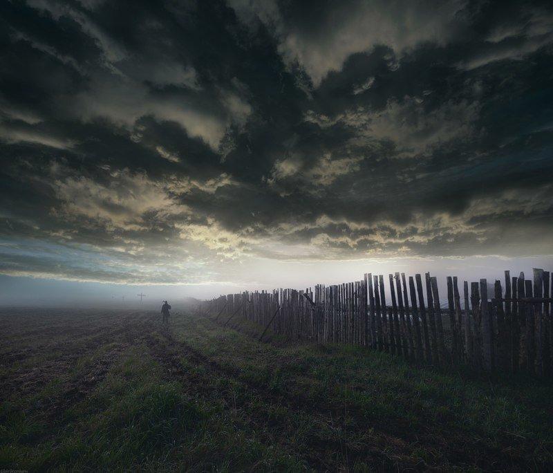 пейзаж небо человек На краю...photo preview