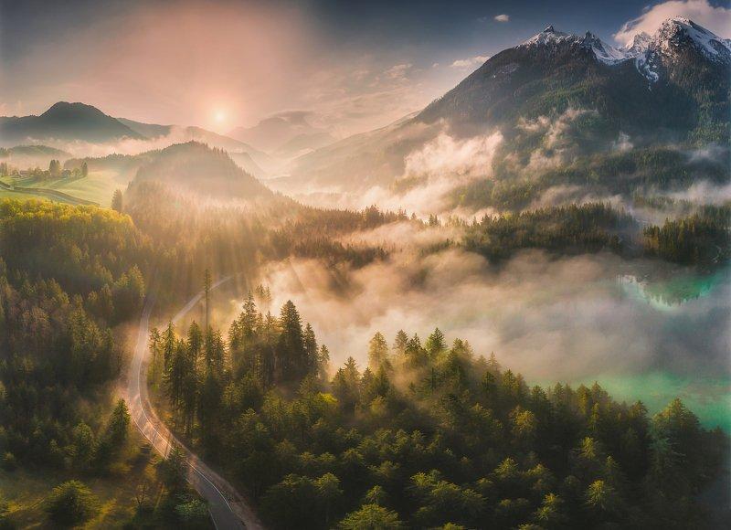 landscape,mountains,bavariua,alps Hintersee photo preview