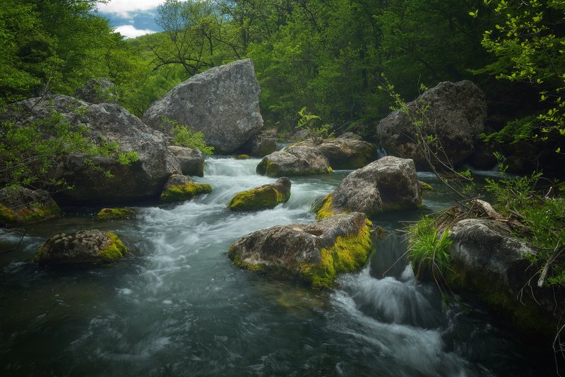 крым, природа, весна, горы, река, лес Река Чернаяphoto preview
