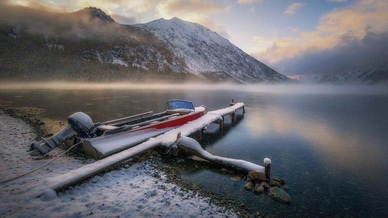 алтай, мультинские озера, На рассветеphoto preview