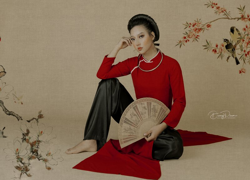 #Aodai #Paintingphoto preview