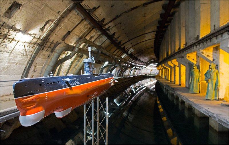 подводная лодка, макет Крупным планомphoto preview