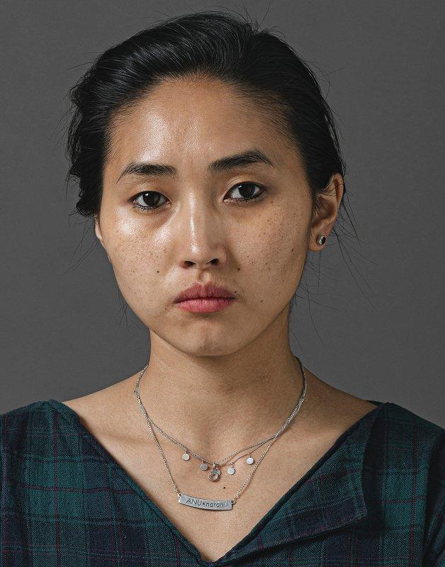 Portrait, mongolia, woman, dark, brown, eye Anunaranphoto preview