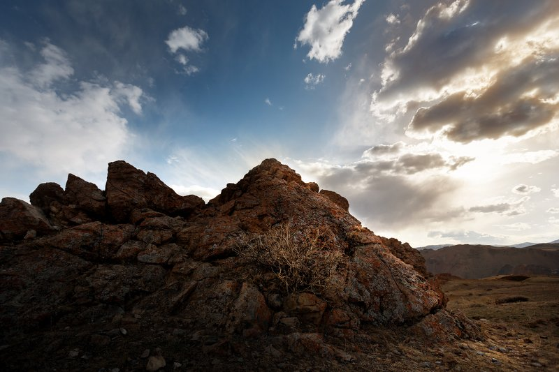 пейзаж, природа, алтай, горы, небо, свет, nature, mountain, light, sky Каменный замокphoto preview