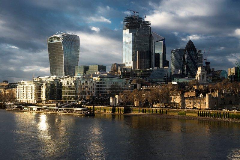 город, архитектура, лондон, великобритания Лондон на закатеphoto preview