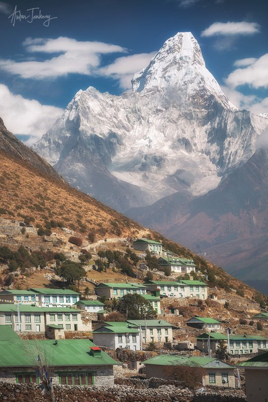 Nepal, Himalayas, trek, trekking, mountains, snow, Ama Dablam, landscape, travel, peak, mount, Khumjung, Sagarmatha, Everest, village, khumbu,  Непал, Гималаи, горы, трек, треккинг, снег, пейзаж, путешествия, Ама Даблам, Кхумбу, гора, пик, вершина, Сагарм СЕРДЦЕ КХУМБУ photo preview