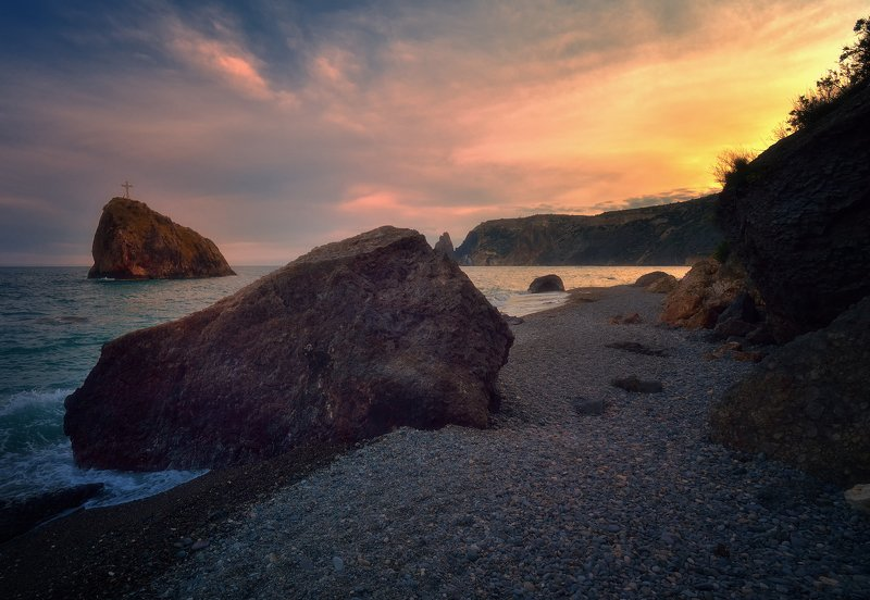 крым, природа, весна, горы, море, закат, краски Фиолентphoto preview