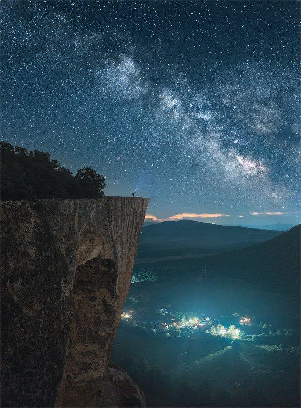 крым, качи-кальон, ночной пейзаж, млечный путь, пейзаж Качи-Кальонphoto preview