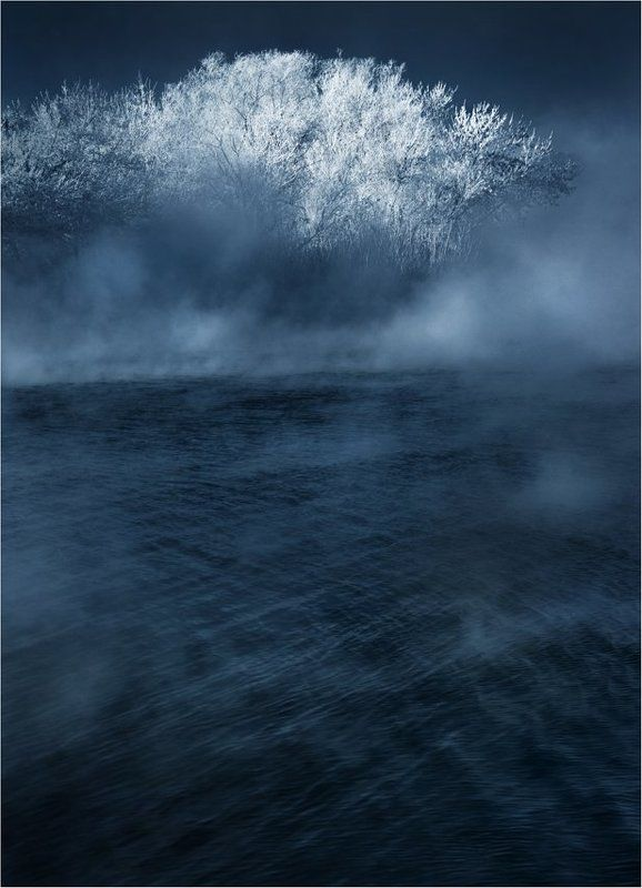 зима., мороз., холод., иней Холодный рассветphoto preview