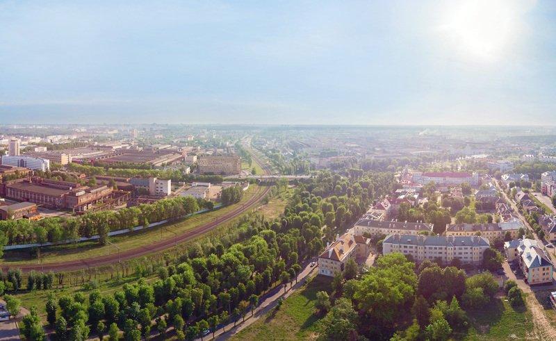 город, пейзаж, солнце, HDR Город утромphoto preview