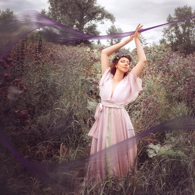 девушка, портрет, лето, фиолетовый, природа, girl, portrait, purple, summer, outdoor, nature photo preview