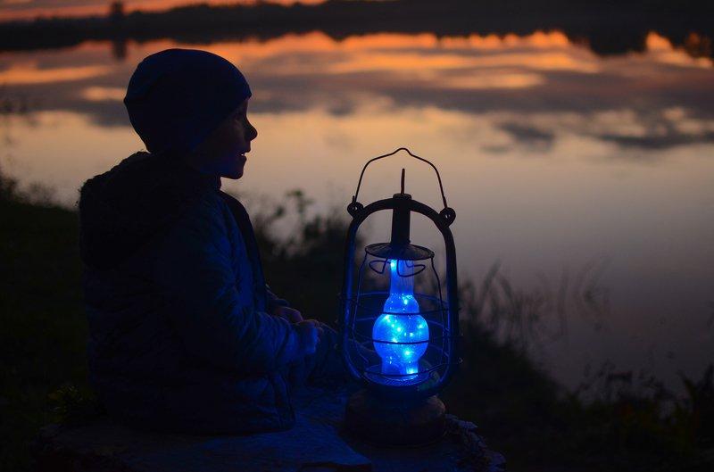 вечер, ночь, закат, очень, ребенок, сказка Сказочный вечерphoto preview