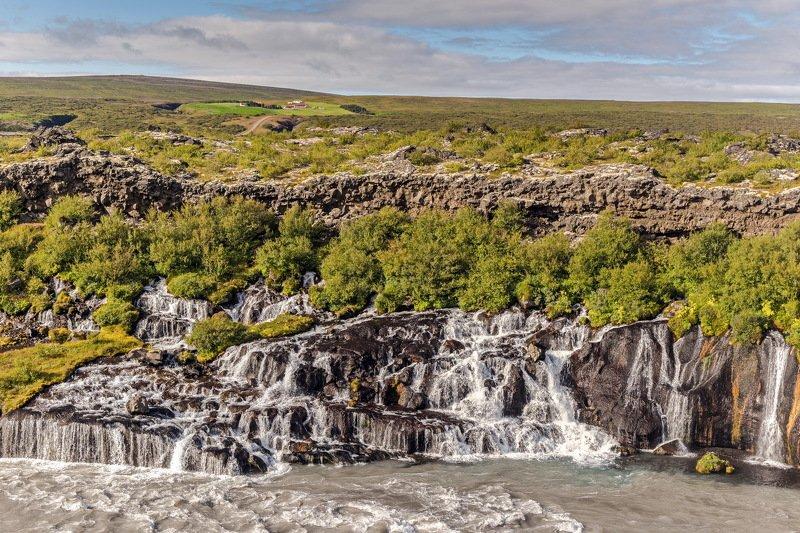 iceland, waterfall, travel, landscape, исландия, водопад, hraunfossar One of islandic waterfallsphoto preview