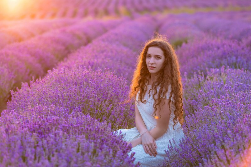 Lavender girlphoto preview