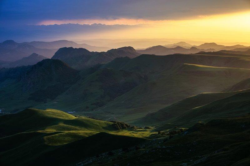 кчр,перевал гум баши,закат,горы , Перевал Гум-Баши...photo preview