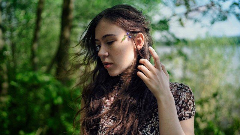 портрет, девушка, нежность, зелень, весна, лето Весенний ветерокphoto preview
