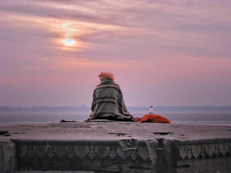 Varanasi,Kashi,Banaras,holy city,sunrise,sun,man,young monk, people, Dhiraj Goswami Kashiphoto preview