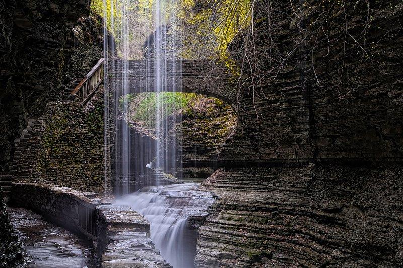 Радужный водопад, Уоткинс глен, водопад, осень Радужный водопадphoto preview