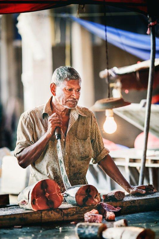 шри-ланка, матара, рынок, лица На рынке.photo preview