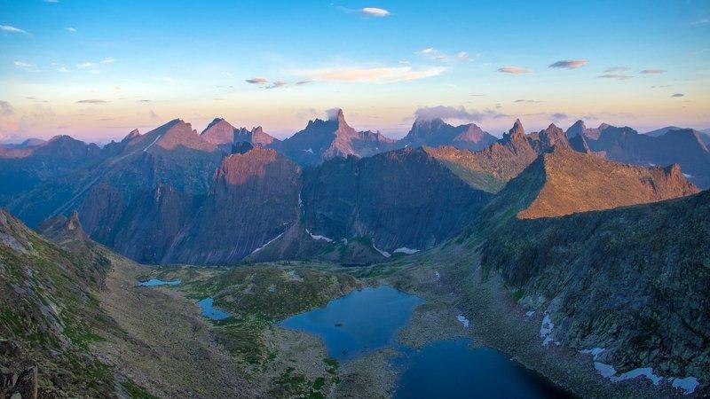 ергаки, лето, вечер, закат, горы, пики, озеро Вечерние Ергакиphoto preview