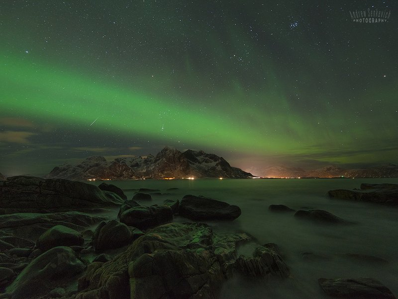 лофотены, lofotens, северное сияние, aurora Лофотены. Сияние 2. =)photo preview