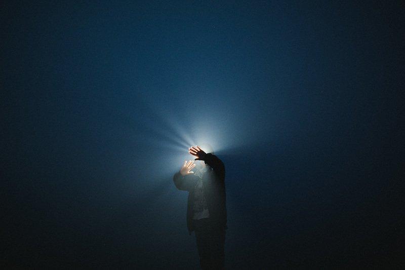 ночь туман свет В тумане мыслейphoto preview