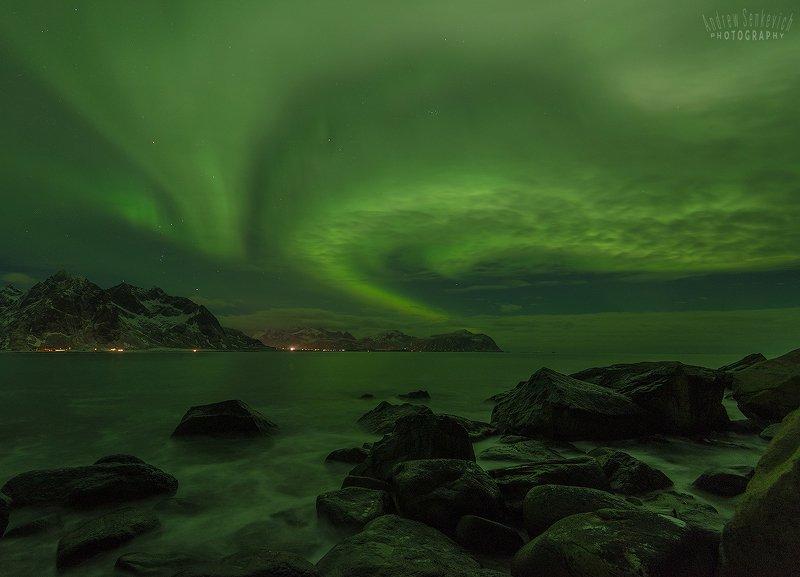 лофотены, lofotens, norway, aurora, северное сияние Лофотены. Сияние 3. =)photo preview