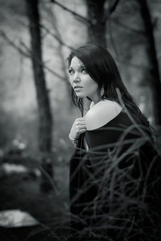 портрет, фотография, девушка, лес ***photo preview