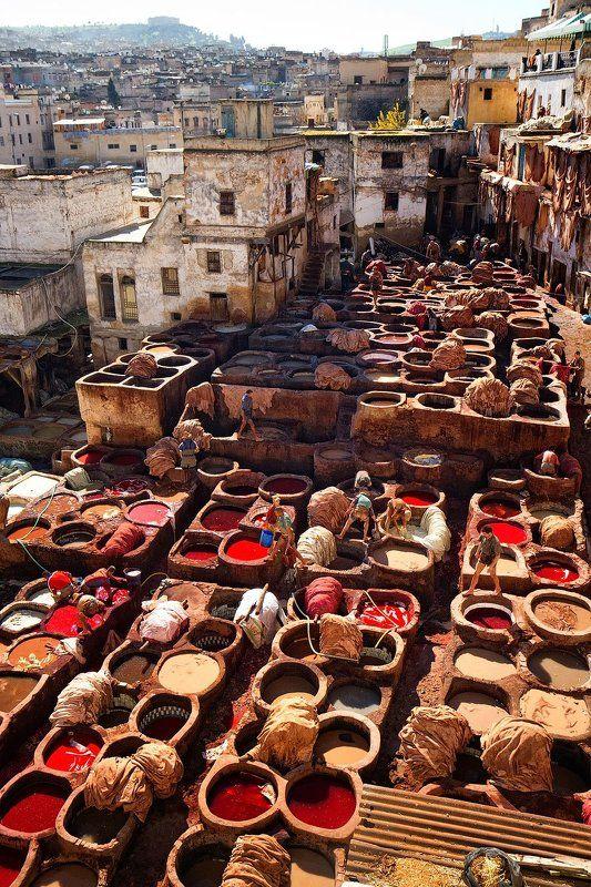 марокко, фес, кожа Фес. Кожевенное производство.photo preview