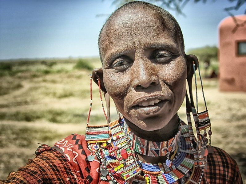 африка, масаи, женщина, кения женщина из племени Масаиphoto preview
