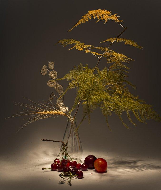 cherry, peach, bottle, light, asparagus, shadow fruitsphoto preview
