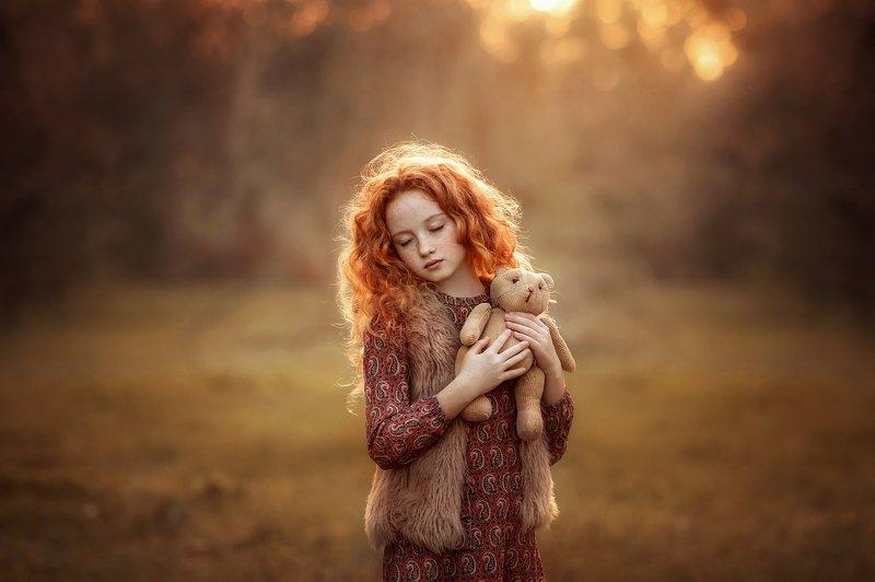 девочка рыжая детство сон мишка Рыжые грезы...photo preview