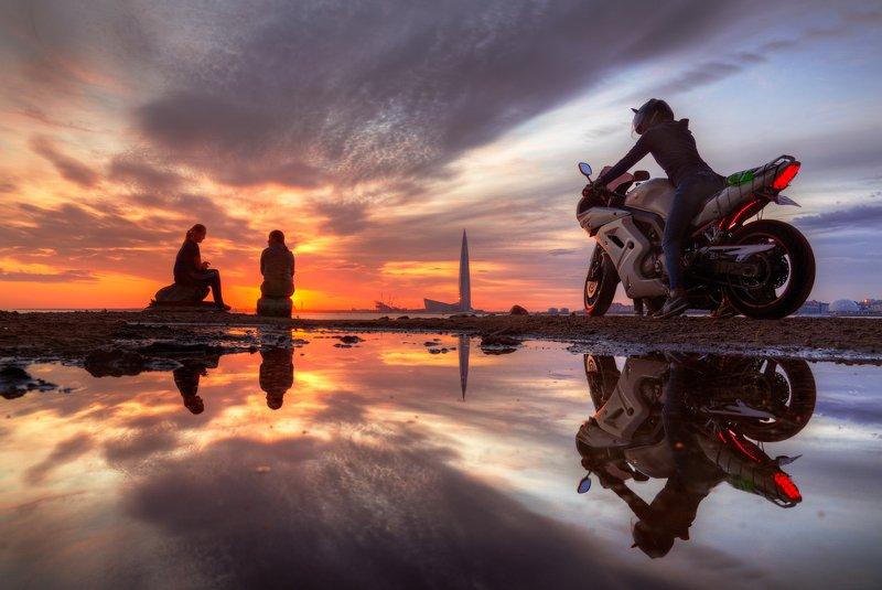 Июльские закаты под мостом ЗСДphoto preview