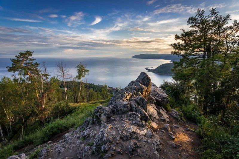 камень, черского, листвянка, озеро, байкал, закат Камень Черскогоphoto preview