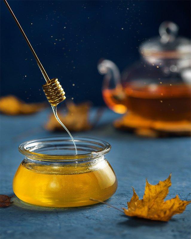 фудфото, еда, мед, золотой, синий, движение,  волшебный медphoto preview