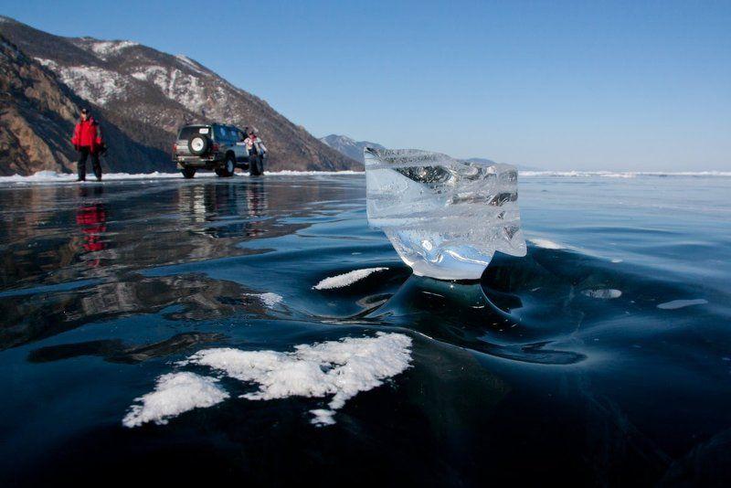 байкал, лед Замерзший бултыхphoto preview