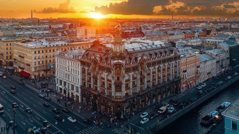 #спб, #питер, #город, #закат, #sunset, #city Зингерphoto preview