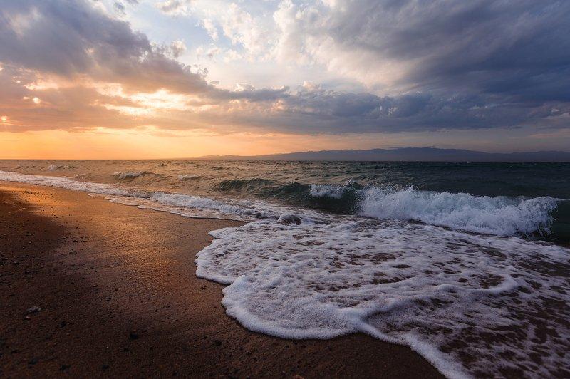 природа, пейзаж, закат, озеро, море, монголия Озеро Хяргас-Нуурphoto preview