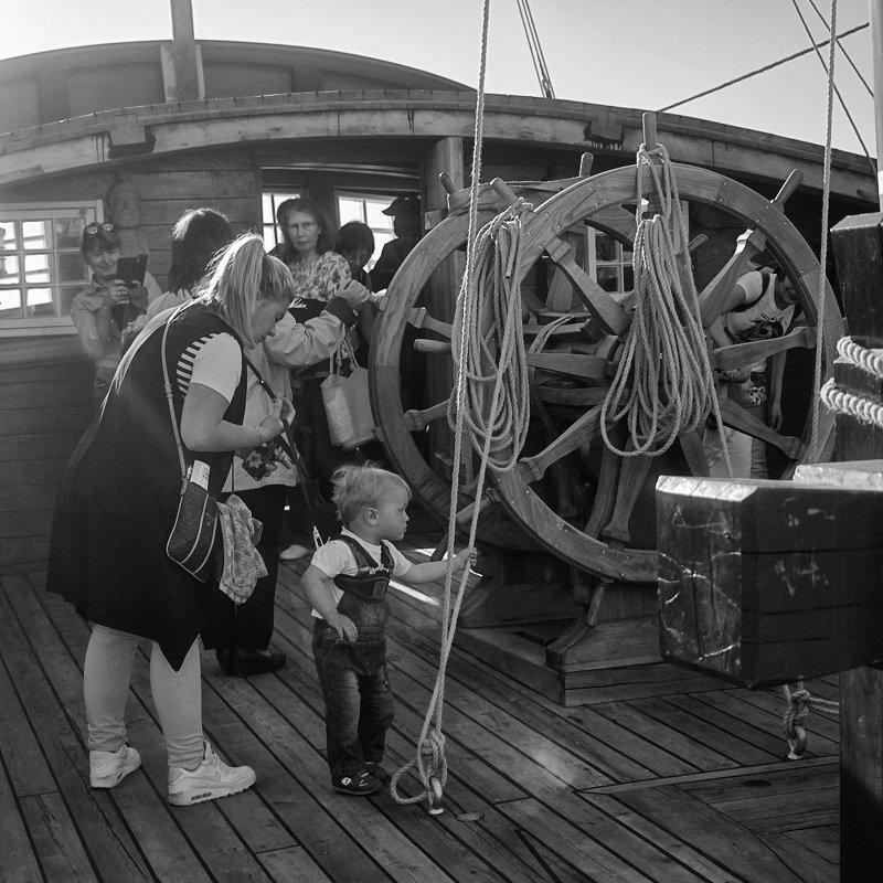 парусник, корабль, чб, жанр, ребенок буду моряком!photo preview