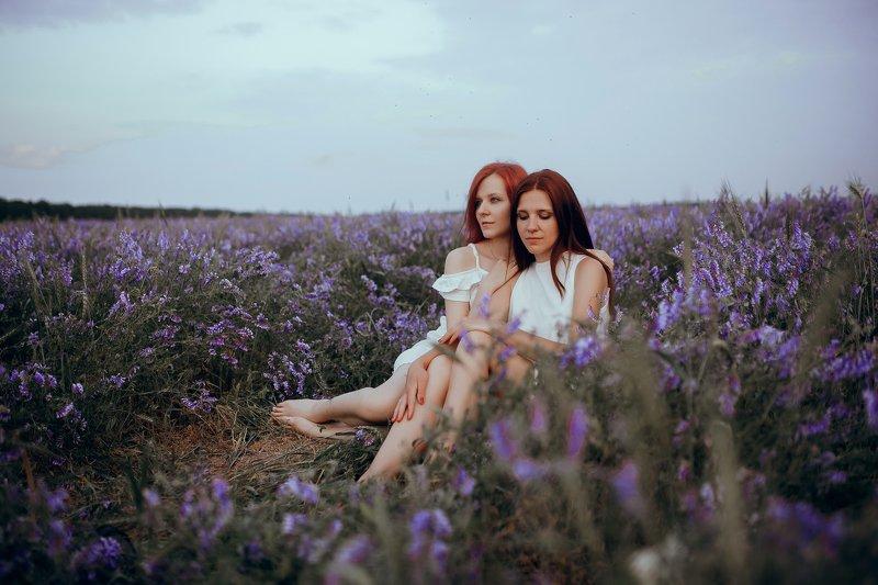 портрет, девушки, природа, цветы photo preview