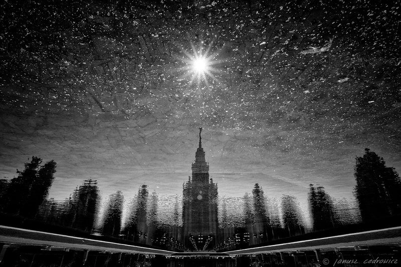 moscow,russia,university,building,architecture,skyscrapper,travel,city,street,mirror,water,sun,star,heaven,sky,urban, ...photo preview