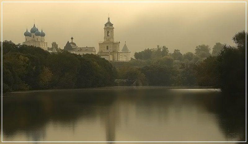 туман, утро, река, церковь, осень Осеннее утро. Сентябрь.photo preview