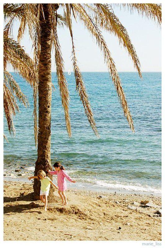 лето, море, испания, пальмы, дети, spain, viuga маленькая жизньphoto preview