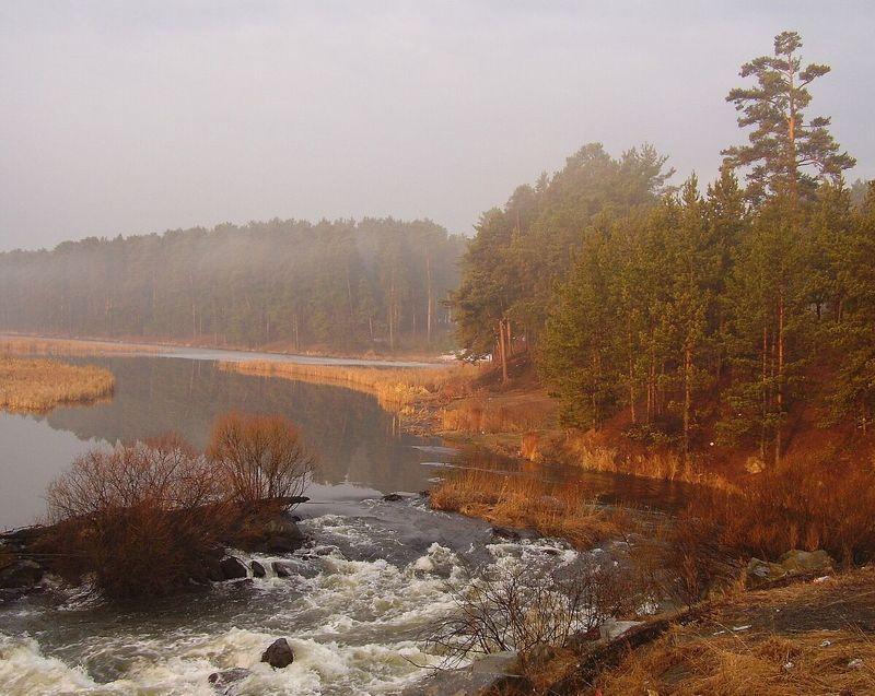 весна, туман, утро Апрельское туманное утроphoto preview