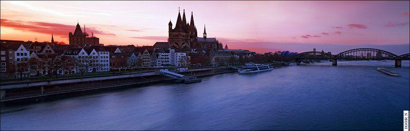 кельн, германия, пейзаж Вечерний Кельнphoto preview