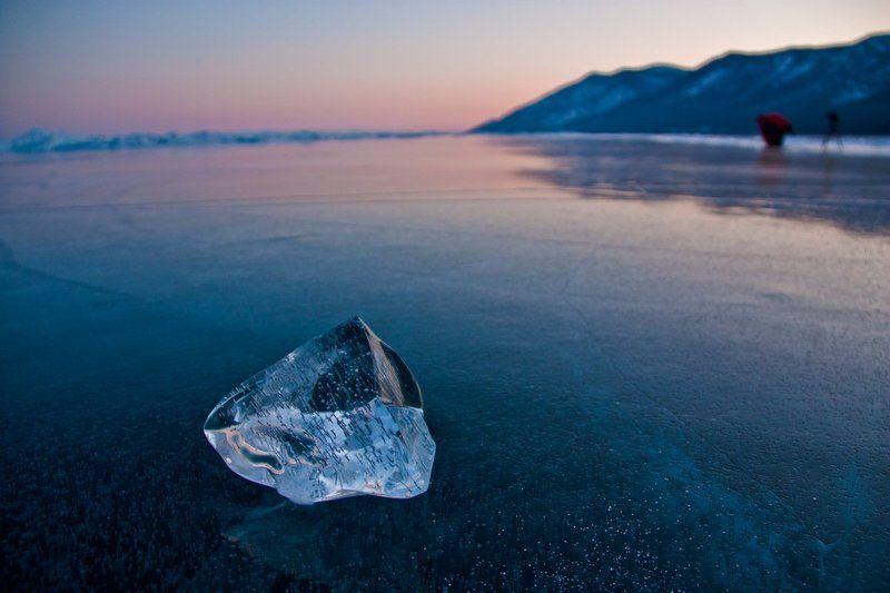 байкал, лед Копилка для воздушных пузырьковphoto preview