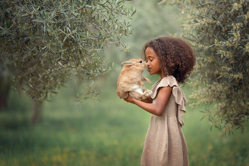 кролик девочка кудри оливки ***photo preview