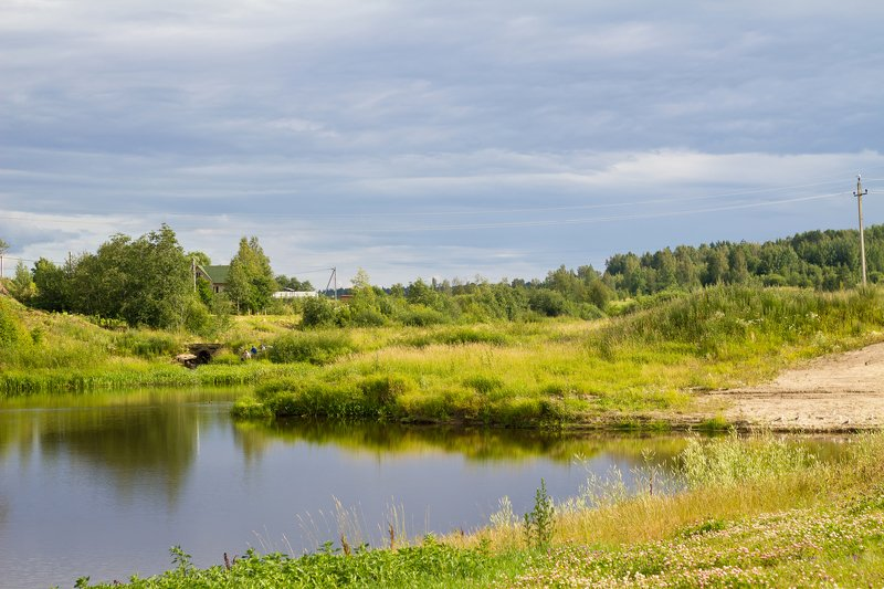 река лето природа  тихая рекаphoto preview