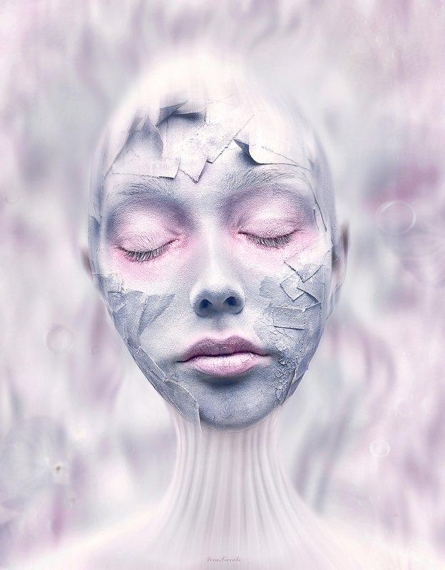портрет, лицо, пластырь, девушка, болезнь, утро, избавление, свет, круги, скорлупа, пробужение Пробуждениеphoto preview