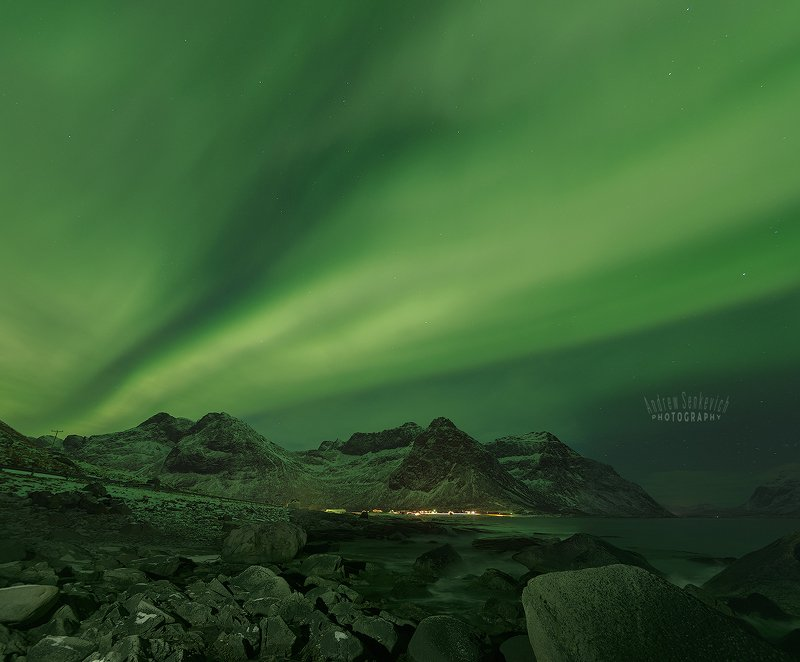 лофотены, lofotens, северное сияние, aurora Лофотены. Сияние 7. =)photo preview